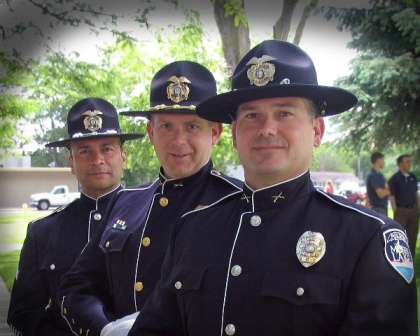 Three Police Officers in Dress Clothes