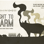 movie poster with farmers and pig