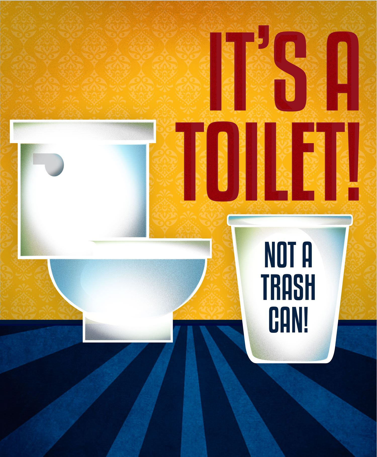 It is a toilet not a trash can