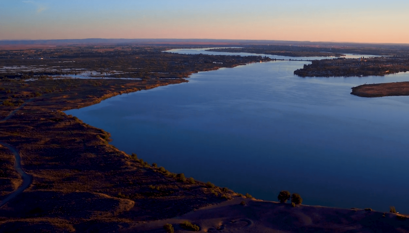 2019 aerial view of Moses Lake