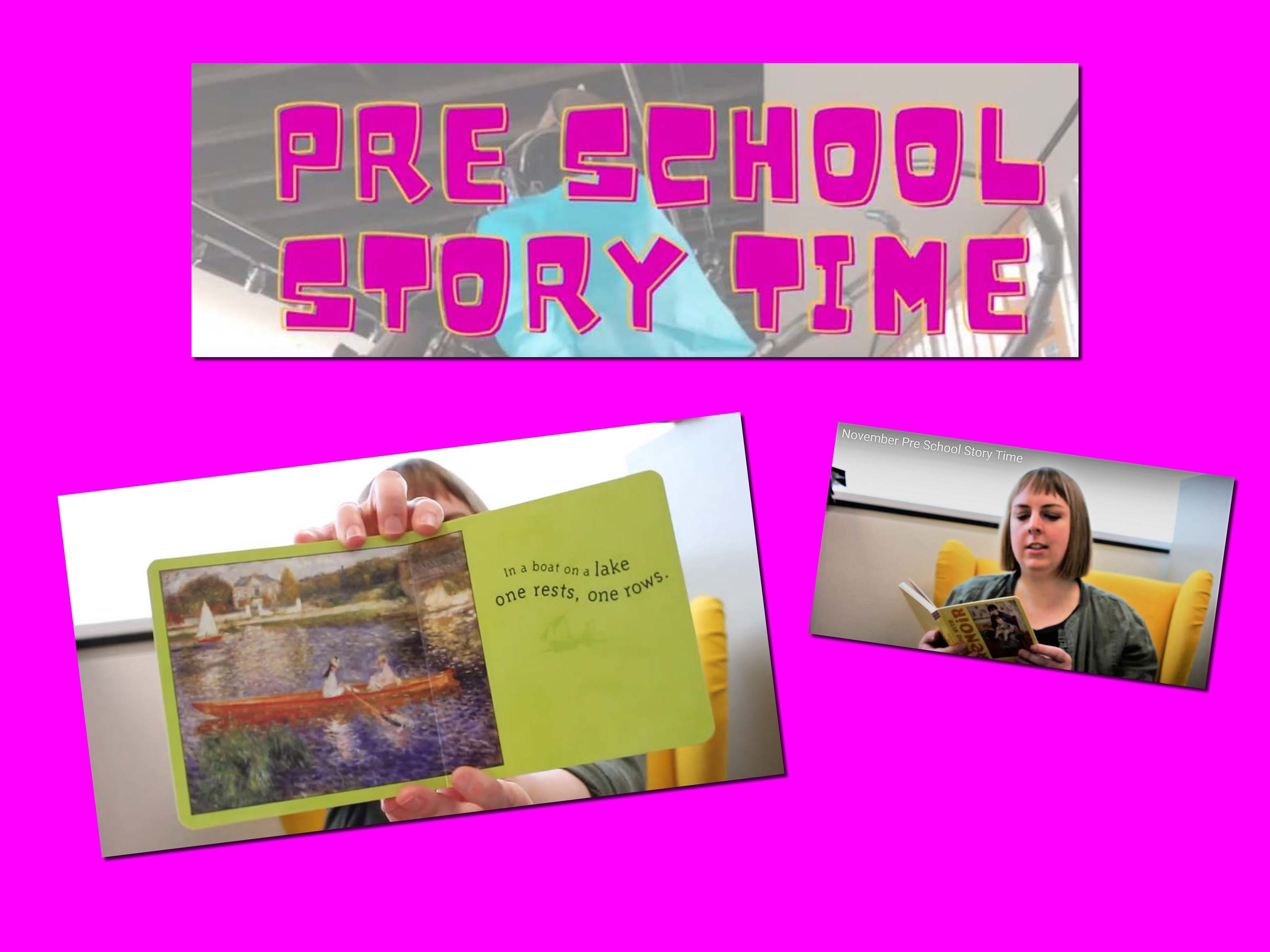 Join us for Preschool Story Time!