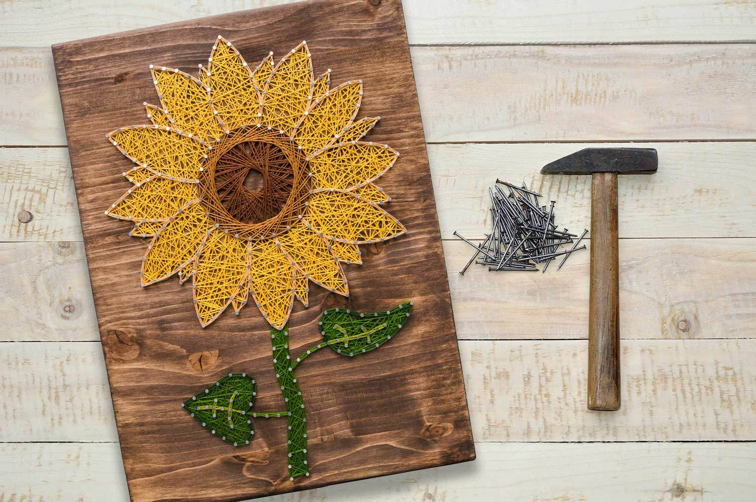 string art of sunflower