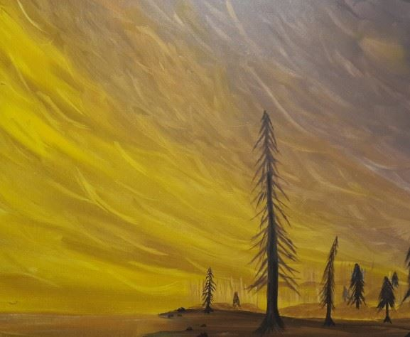 Yellow Sunset painting