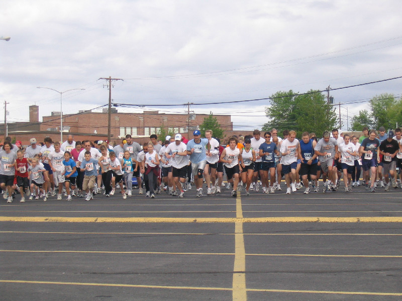 5K/10K participants at the starting line