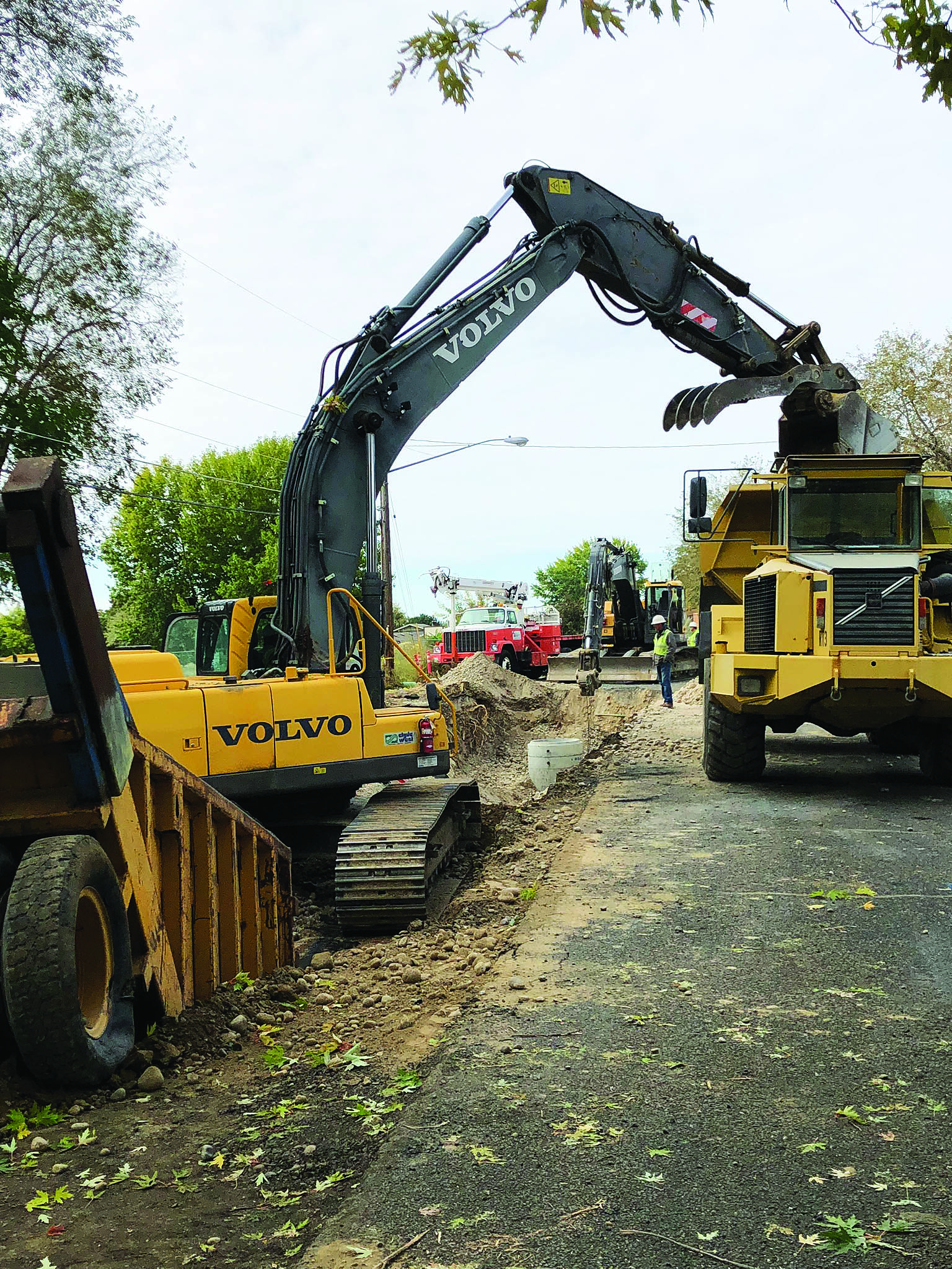 West Northshore Drive sewer line project