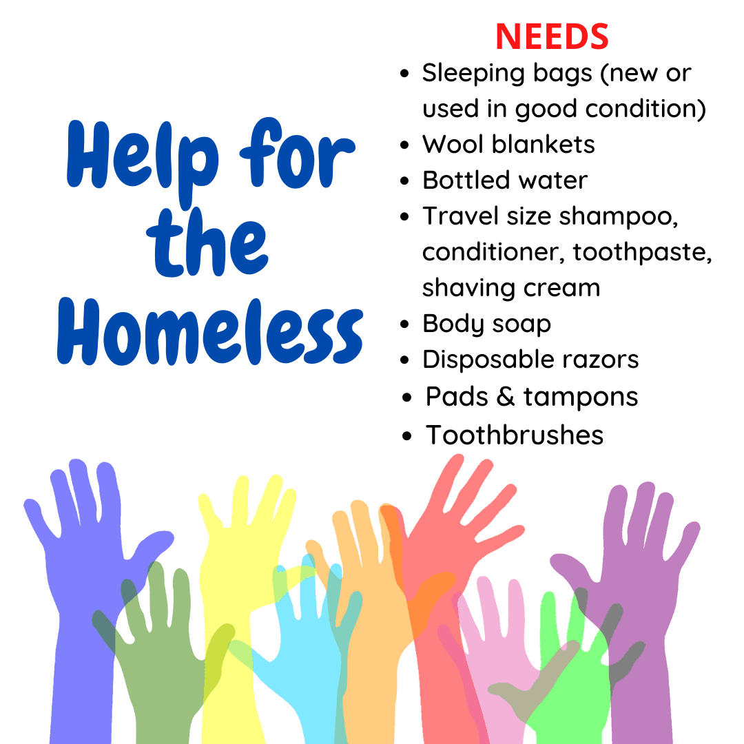 Help for the Homeless donation list